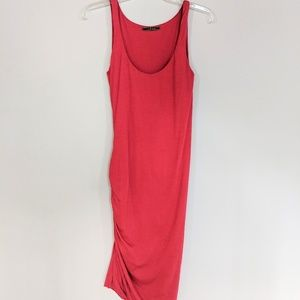 🤶3/$24 RED VELVET BRAND FITTED RUCHED DRESS